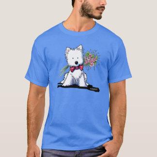 KiniArt Herr Pawfect Westie T Shirts