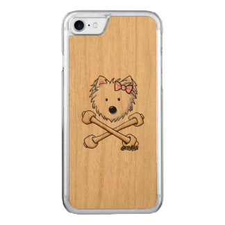KiniArt Torrid Westie Diva Carved iPhone 7 Skal