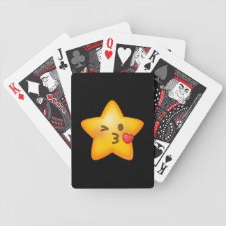 Kissy ansiktestjärna Emoji Spelkort