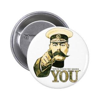 Kitchener ditt land behöver dig standard knapp rund 5.7 cm