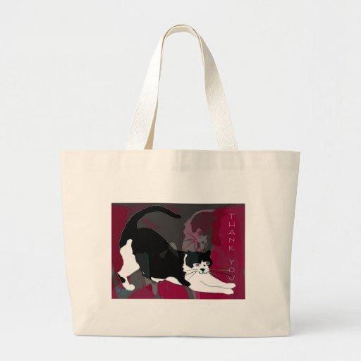 Kitt y tackar dig tote bags