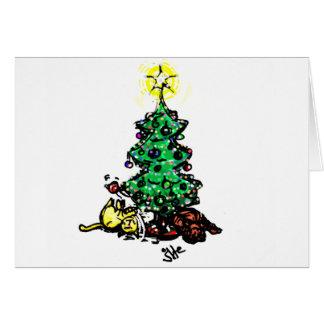 #Kitty #Holidays & det okända för #jWe   för Hälsningskort