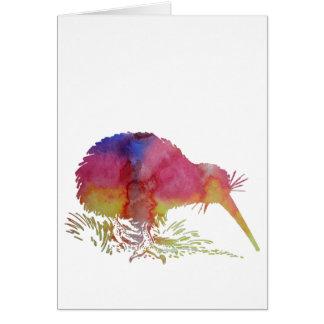 Kiwifågel Hälsningskort