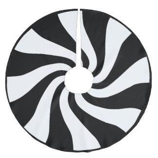 Kjol för svart- & vitpepparmintjulgran julgransmatta borstad polyester