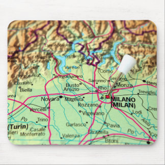 Klämma fast kartan av staden av Milan, italien Mus Matta