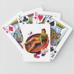 Klämma fast upp kasinoflickan Las Vegas Spelkort