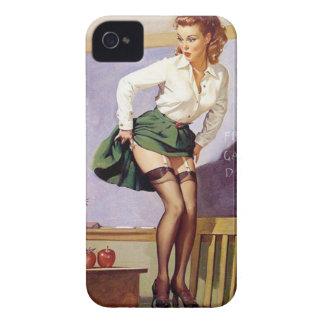 Klämmer fast den stygga lärare för vintage upp fli iPhone 4 case