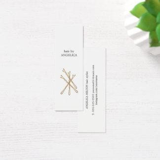 Klämmer fast guld- hår för den Minimalist eleganta Litet Visitkort