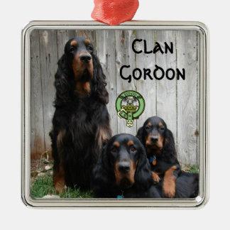 Klan Gordon, prydnad för foto för Gordon Setter Julgransprydnad Metall