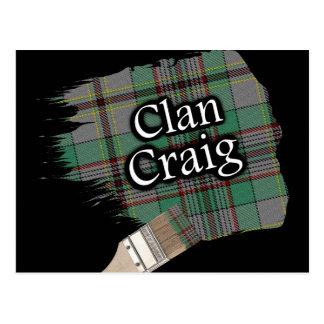 KlanCraig målar den skotska tartanen borstar Vykort
