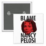 Klander Nancy Pelosi knäppas Knapp Med Nål