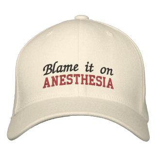 Klandra det på anestesi broderad keps