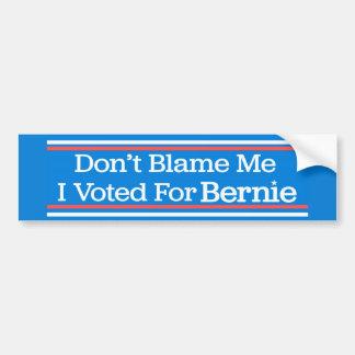 Klandra inte mig som jag röstade för Bernie Bildekal