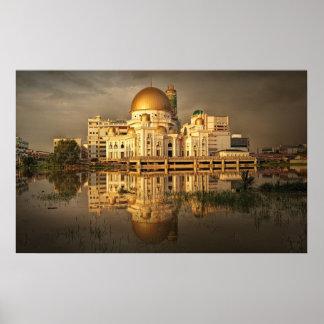 Klang moskéMalaysia enormt foto till kanvastrycket Print