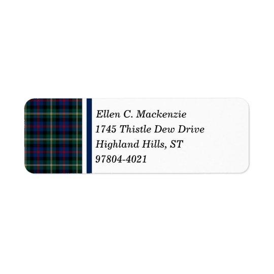 KlanMalcolm mörk - slösa och göra grön den skotska Returadress Etikett