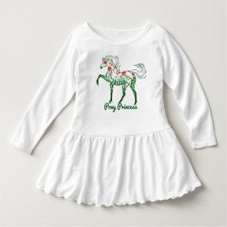Klänning för långärmad för Princess Sticka för T-shirt
