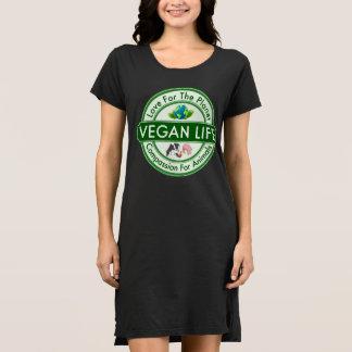 Klänning för Veganlivkortärmad T-shirts