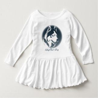 Klänningar för baby för valp för Husky klänning T-shirt