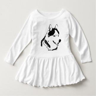 Klänningar för baby för valp för Husky klänning T Shirts