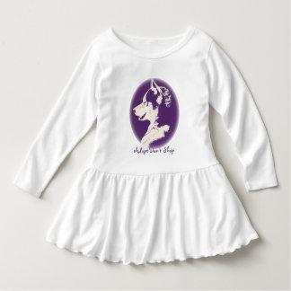 Klänningar för baby för valp för Husky klänning T-shirts