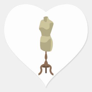 Klänningskyltdocka Hjärtformat Klistermärke