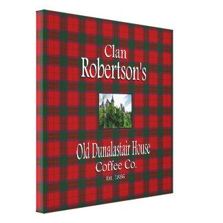 KlanRobertsons gammalt kaffe Co. för Dunalastair Canvastryck