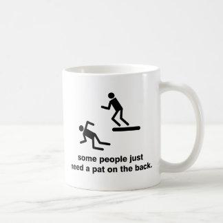 Klappa på baksidaen kaffemugg