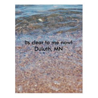 Klar sten sjö, dess klart till mig nu!   Duluth MN Vykort