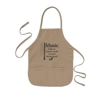 Klarinettmusik hjälper oss uttryckligt ordkök barnförkläde