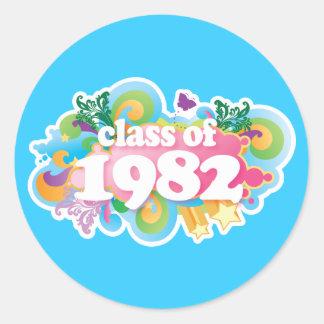 Klassificera av 1982 runt klistermärke