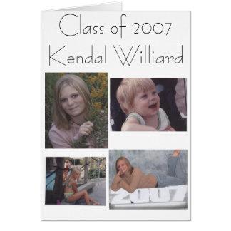 Klassificera av 2007Kendal Williard Hälsningskort