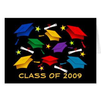 Klassificera av 2009 studenten - pappert hälsningskort