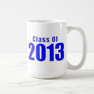 Klassificera av 2013 den muggblått och stickan kaffemugg