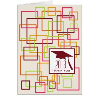 Klassificera av 2013 som färg kvadrerar hälsningskort