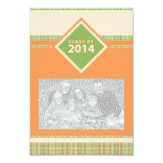 klassificera av 2014: plädstudentenmeddelande 8,9 x 12,7 cm inbjudningskort