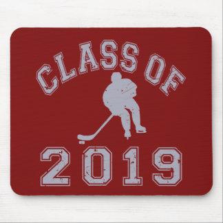 Klassificera av 2019 hockey - grå färg 2 musmatta