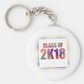 klassificera av 2k18, klassificera av 2018 rund nyckelring