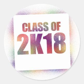 klassificera av 2k18, klassificera av 2018 runt klistermärke