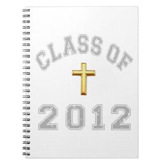 Klassificera av den arga kristen 2012 - grå färg 2 anteckningsbok med spiral