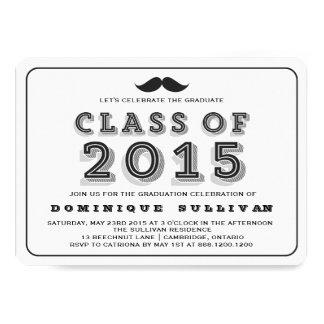 Klassificera av mustaschstudenteninbjudan 2015 12,7 x 17,8 cm inbjudningskort