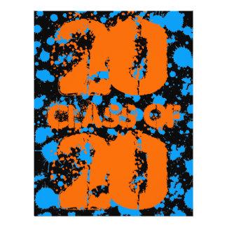 Klassificera av Splatter för blått för Reklamblad