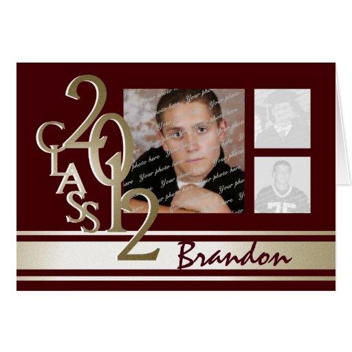 Klassificera av studenten 2012 tackar dig hälsnings kort