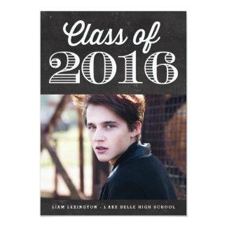 Klassificera av studenten 2016 för 12,7 x 17,8 cm inbjudningskort