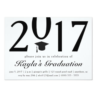 Klassificera av studentfestinbjudan 2017 12,7 x 17,8 cm inbjudningskort