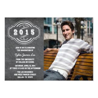 Klassificera av svart tavlafotostudentfesten 2015 12,7 x 17,8 cm inbjudningskort