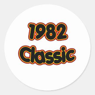 Klassiker 1982 runt klistermärke