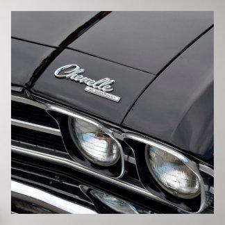 Klassiker Chevrlot Chevelle på svart Poster