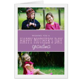 Klassiker & modernt mors dagfotokort hälsningskort