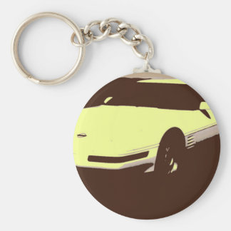 Klassikerbil 1992 rund nyckelring
