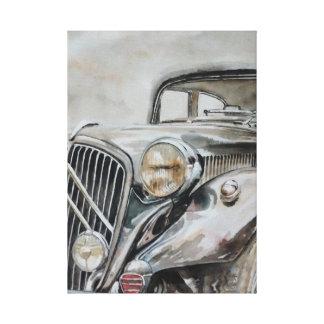 Klassikerbil - gammal flicka canvastryck